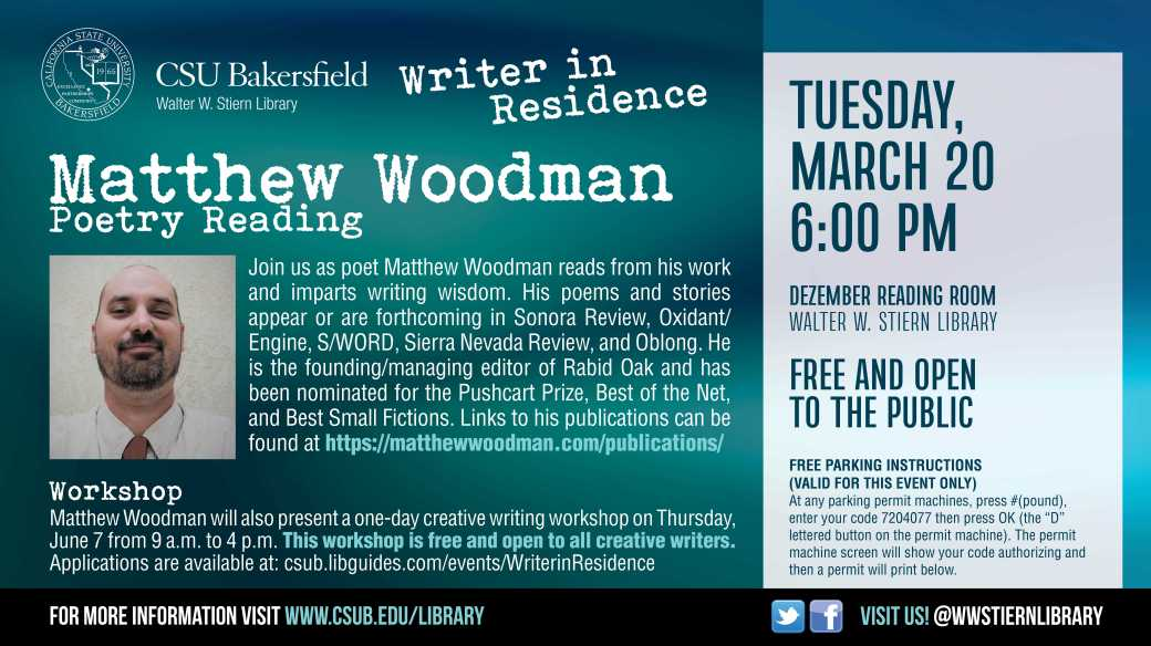 Writer in Residence Reading